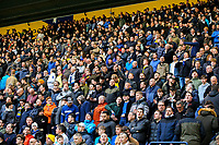 Leeds United fans enjoy the atmosphere<br /> <br /> Photographer Alex Dodd/CameraSport<br /> <br /> The EFL Sky Bet Championship - Preston North End v Leeds United -Tuesday 9th April 2019 - Deepdale Stadium - Preston<br /> <br /> World Copyright &copy; 2019 CameraSport. All rights reserved. 43 Linden Ave. Countesthorpe. Leicester. England. LE8 5PG - Tel: +44 (0) 116 277 4147 - admin@camerasport.com - www.camerasport.com