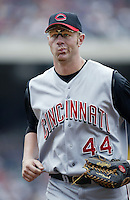Adam Dunn of the Cincinnati Reds during a 2002 MLB season game against the Los Angeles Angels at Angel Stadium, in Anaheim, California. (Larry Goren/Four Seam Images)