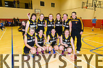 Picture on Saturday at the Kerry Area Basketball Board 2014/2015 Senior Cup Finals, held in Duagh Sports and Leisure Centre. Pictured is the winning Glenbeigh Falcons team who defeated Ballybunion in the Ladies Division 1 Final.
