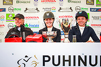 NZL-Virginia Thompson takes the Title for the second consecutive year during the Honda New Zealand CCI3* Prizegiving (Final-1ST). 2016 NZL-Puhinui International 3 Day Event. Puhinui Reserve, Auckland. Sunday 11 December. Copyright Photo: Libby Law Photography