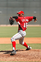 Daniel Corcino - Cincinnati Reds 2009 Instructional League. .Photo by:  Bill Mitchell/Four Seam Images..