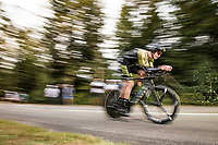 Jack Bauer (NZL/Mitchelton-Scott) on the steep parts of the individual time trial up the infamous Planche des Belles Filles<br /> <br /> Stage 20 (ITT) from Lure to La Planche des Belles Filles (36.2km)<br /> <br /> 107th Tour de France 2020 (2.UWT)<br /> (the 'postponed edition' held in september)<br /> <br /> ©kramon