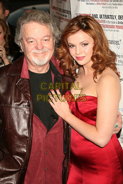 "RUSS TAMBLYN & AMBER TAMBLYN  .""Stephanie Daley"" Los Angeles Screening at the Regent Showcase Theatre, Hollywood, California, USA..April 24th, 2007.half length dress goatee facial hair father daughter family red strapless.CAP/ADM/BP.©Byron Purvis/AdMedia/Capital Pictures"