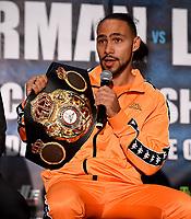 BROOKLYN - JANUARY 24: Boxer Keith Thurman attends a press conference for the January 26 PBC on FOX fight card at Barclays Arena on January 24, 2019, in Brooklyn, New York. (Photo by Frank Micelotta/Fox Sports/PictureGroup)