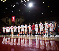 STANFORD, CA - January 17, 2019: Team at Maples Pavilion. The Stanford Cardinal defeated UC Irvine 27-25, 17-25, 25-22, and 27-25.