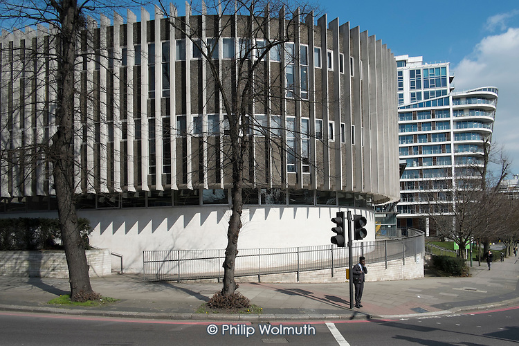 Swiss Cottage library, designed by Sir Basil Spence, opened 1964, Camden, London.