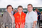 Helen Moriarty, Nathan Moriarty O'Shea and Philip O'Shea from Tralee enjoying the Listowel Races on Sunday