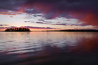 Sunset at Astotin Lake in Elk Island National Park