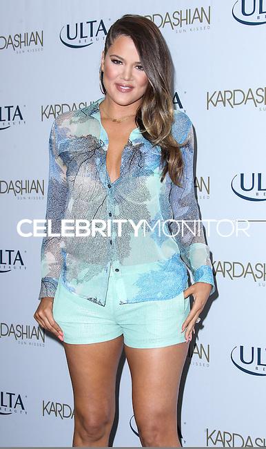 BURBANK, CA - JUNE 19: Khloe Kardashian Odom celebrates the new Kardashian Sun-Kissed Line at ULTA Beauty-Burbank Empire Center on June 19, 2013 in Burbank, California. (Photo by Celebrity Monitor)