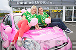Pictured at the launch of Nissans Breast Cancer awareness campaign at Randles Nissan Killarney who are first dealership to have a pink Nissan Micra for the campaign, were Bernie Breen, captain of the Kerry ladies football team and Casandra Buckley, Kerry ladies team.  ......