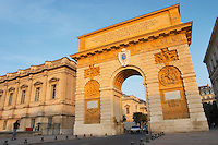 The Arc de Triomphe monument. Montpellier. Languedoc. France. Europe.