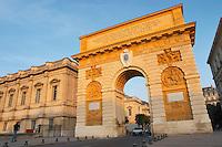 The Arc de Triomphe monument. Montpellier. Languedoc. France. Europe.