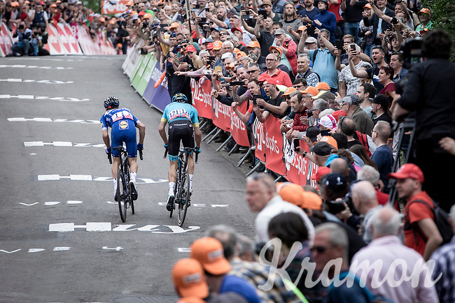 Julian Alaphilippe (FRA/Deceuninck Quick Step) making his decisive move with only 150m from finish. <br /> <br /> 83th Flèche Wallonne 2019 (1.UWT)<br /> 1 Day Race: Ans – Huy 195km<br /> <br /> ©kramon