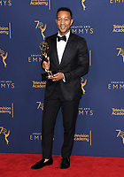 09 September 2018 - Los Angeles, California - John Legend. 2018 Creative Arts Emmy Awards - Press Room held at Microsoft Theater. <br /> CAP/ADM/BT<br /> &copy;BT/ADM/Capital Pictures