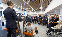 Pictured: Operations Director of Willmott Dixon, Ian Jones. Monday 04 February 2019<br /> Re: Opening of the Computational Foundry at the Swansea University Bay Campus, south Wales, UK.