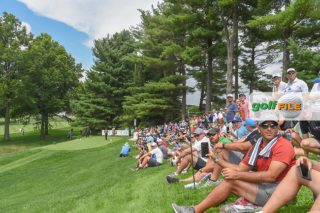 Fans watch the drive by Jason Day (AUS) on 2 during 2nd round of the World Golf Championships - Bridgestone Invitational, at the Firestone Country Club, Akron, Ohio. 8/3/2018.<br /> Picture: Golffile | Ken Murray<br /> <br /> <br /> All photo usage must carry mandatory copyright credit (© Golffile | Ken Murray)