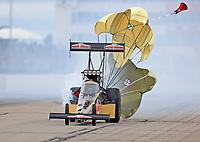 May 20, 2017; Topeka, KS, USA; NHRA top fuel driver Leah Pritchett during qualifying for the Heartland Nationals at Heartland Park Topeka. Mandatory Credit: Mark J. Rebilas-USA TODAY Sports