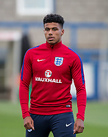 James Justin (Luton Town) of England U20 ahead of the International friendly match between England U20 and Netherlands U20 at New Bucks Head, Telford, England on 31 August 2017. Photo by Andy Rowland.