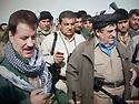 Iraq 2015 9 march, the recapture of villages and land, south of Kirkuk.Left, Kemal Kirkuk, right, Hama Haji Mahmoud<br /> Irak 2015 9 mars, reprise de villages et de terre au sud de Kirkouk avec a gauche Kemal, Kirkouk et Hama Haji Mahmoud