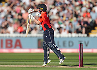 England's Alex Hales gets a high delivery from Australia's Billy Stanlake (not shown)<br /> <br /> Photographer Andrew Kearns/CameraSport<br /> <br /> Only IT20 - Vitality IT20 Series - England v Australia - Wednesday 27th June 2018 - Edgbaston - Birmingham<br /> <br /> World Copyright &copy; 2018 CameraSport. All rights reserved. 43 Linden Ave. Countesthorpe. Leicester. England. LE8 5PG - Tel: +44 (0) 116 277 4147 - admin@camerasport.com - www.camerasport.com
