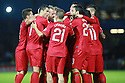 Portugal's Christiano Ronaldo celebrates with fellow players after they beat Northern Ireland's 4-2 during a World Cup Qualifier in Belfast, Friday September 6th, 2013.  Photo/Paul McErlane