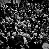 WASHINGTON DC - JANUARY 19: People attend the Boots and Black Tie Ball the night before the inauguration at the Marriott Hotel January 19, 2005 in Washington, DC. U.S President George W. Bush was inaugurated for a second term on January 20. Thousands of people where not able to enter the main ball room because it was filled to capacity. (Photo by Anthony Suau/Getty Images)