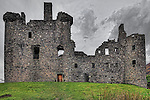 Kilchurn Castle was built in about 1450 by Sir Colin Campbell. It sits on the Northeastern end of Loch Awe in Argyll and Bute Scotland. Over time it was expanded. A violent storm in 1760 damaged the castle and it was abandoned.