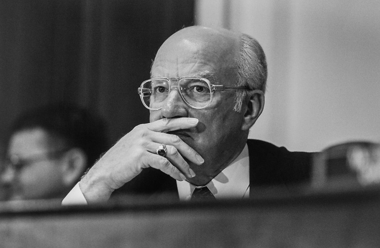 Rep. Vern Ehlers, R-Mich., in July 1995. (Photo by Laura Patterson/CQ Roll Call via Getty Images)