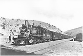 #361 pulling stock train.<br /> D&amp;RGW  Cimarron, CO  Taken by Lougue, S. C. - 5/31/1946