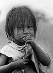 Native child, Guarani Kaiowa indigenous people, Mato Grosso do Sul State, Mid-west Brazil.