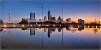Fog envelopes the Austin Skyline in the early morning hours.
