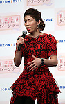 """December 7, 2016, Tokyo, Japan - Saori Yoshida, Rio de Janeiro Olympic silver medalist speaks as she received """"Oricon Style Queen Award 2016"""" in Tokyo on Wednesday, December 7, 2016. Yoshida received the most favorable female athlete, which was selected by ordinary people.  (Photo by Yoshio Tsunoda/AFLO) LWX -ytd-"""