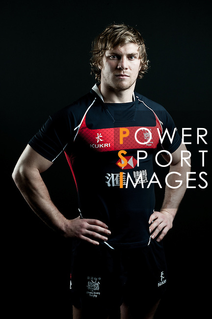 Mark Wright poses during the Hong Kong 7's Squads Portraits on 5 March 2012 at the King's Park Sport Ground in Hong Kong. Photo by Andy Jones / The Power of Sport Images for HKRFU