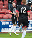 Pars' Allan Smith celebrates after he scores their third goal.