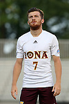 05 September 2015: Iona's Marcos Nunez (ESP). The Duke University Blue Devils hosted the Iona University Gaels at Koskinen Stadium in Durham, NC in a 2015 NCAA Division I Men's Soccer match. Duke won the game 2-1.