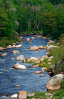 Ammonoosuc River in New Hampshire. New Hampshire.