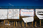 Signs welcoming soldiers back to Fort Carson line the perimeter fence near the main gate to Fort Carson in Colorado Springs, Colo.  ..Major General Mark Graham and his wife, Carol, talk about the deaths of their two sons in their Fort Carson home in Colorado Springs, Colo.  Their son, Second Lt. Jeff Graham was killed by a roadside bomb in Iraq just months after their other son, ROTC Cadet Kevin Graham, committed suicide in his apartment.  Since Kevin's suicide, the Grahams have been outspoken advocates for suicide prevention.