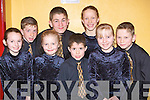 Niamh Quirke, Eoin O'Brien, Jasmin Grey, Cathal O'Callaghan, Patrick O'Connor, Gemma Teahan, Sarah O'Connor and Cieran O'Connor Milltown/Castlemaine who danced at the Mid Kerry Scor na bPaisti in Milltown hall on Sunday.