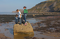 children playing - Runswick Bay - North Yorkshire - England