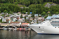 Cruise ship Island Princess docked at Ketchikan, Alaska, USA