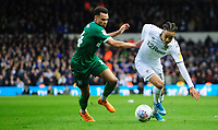 Leeds United's Helder Costa vies for possession with Sheffield Wednesday's Jacob Murphy<br /> <br /> Photographer Chris Vaughan/CameraSport<br /> <br /> The EFL Sky Bet Championship - Leeds United v Sheffield Wednesday - Saturday 11th January 2020 - Elland Road - Leeds<br /> <br /> World Copyright © 2020 CameraSport. All rights reserved. 43 Linden Ave. Countesthorpe. Leicester. England. LE8 5PG - Tel: +44 (0) 116 277 4147 - admin@camerasport.com - www.camerasport.com