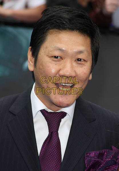 Benedict Wong.World Premiere of 'Prometheus' at the Empire, Leicester Square, London, England..May 31st, 2012 .headshot portrait black purple tie mouth open.CAP/ROS.©Steve Ross/Capital Pictures.