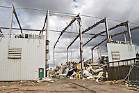 Industrial unit being stripped and demolished. .©shoutpictures.com..john@shoutpictures.com