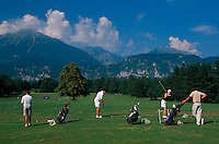 Golfplatz in Bled, Slowenien