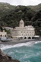Veduta dell'Abbazia di San Fruttuoso nei pressi di Camogli.<br /> View of the Abbey of San Fruttuoso, near Camogli.<br /> UPDATE IMAGES PRESS/Riccardo De Luca