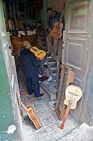 Enrique, the Guitar Artisan of Bogota - Calle de los Mandolinas - Bogota - Colombia