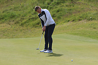 James Robinson (Redditch) on the 4th green during Round 1 of the The Amateur Championship 2019 at The Island Golf Club, Co. Dublin on Monday 17th June 2019.<br /> Picture:  Thos Caffrey / Golffile<br /> <br /> All photo usage must carry mandatory copyright credit (© Golffile | Thos Caffrey)