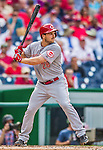 21 May 2014: Cincinnati Reds outfielder Chris Heisey in action against the Washington Nationals at Nationals Park in Washington, DC. The Reds edged out the Nationals 2-1 to take the rubber match of their 3-game series. Mandatory Credit: Ed Wolfstein Photo *** RAW (NEF) Image File Available ***