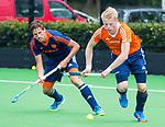 UTRECHT - Oranje v Jong Oranje. Jochem Bakker met Bjorn Kemperman.  COPYRIGHT KOEN SUYK