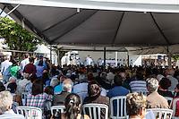 SAO CAETANO DO SUL, SP, 28 DE JULHO 2012 - ANIVERSARIO DE SAO CAETANO -  Missa em homenagem aos 135 anos da cidade de Sao Caetano do Sul na Praca da Matriz, neste sábado, 28. (FOTO: WILLIAM VOLCOV / BRAZIL PHOTO PRESS).